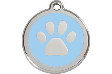 Red Dingo Enamel Tag Paw Print Light Blue 01-PP-LB (1PPLBS / 1PPLBM / 1PPLBL)