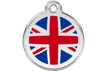Red Dingo Enamel Tag UK Flag 01-UK-DB (1UKNS / 1UKNM / 1UKNL)